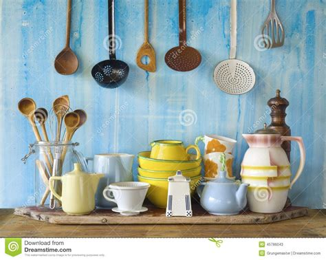 vintage kitchen accessories collection of vintage kitchenware stock image image of 4610