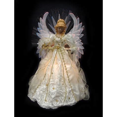 lighted angel christmas tree toppers northlight lighted fiber optic tree topper reviews wayfair