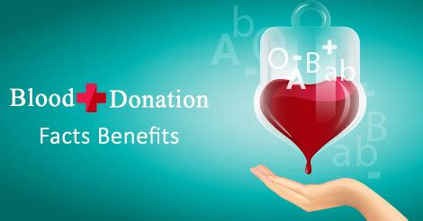 surprising facts benefits of blood donation
