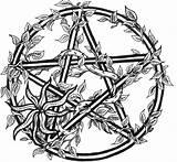 Pentagram Wiccan Pentacle sketch template
