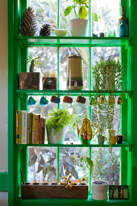 diy  ideas  window herb garden   kitchen