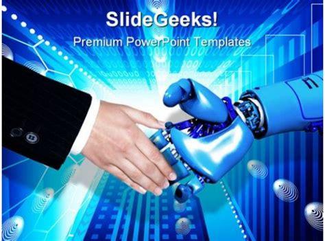 handshake technology powerpoint template