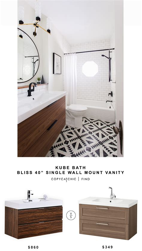 kube bath single wall mount vanity for 860 vs ikea