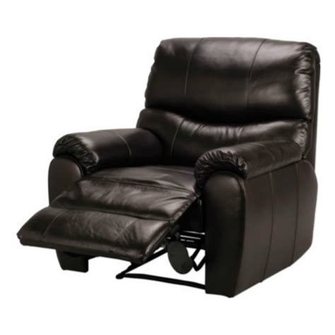 fabian leather recliner chair black furnico