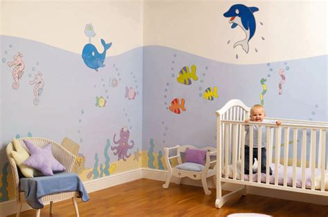 chambre bebe decoration modèle décoration chambre bébé stickers