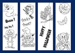 Printable Halloween Bookmark Coloring Pages