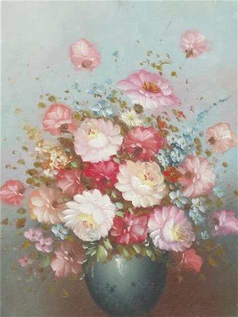 shabby chic paintings vintage painting on canvas shabby chic floral in large antique gold frame