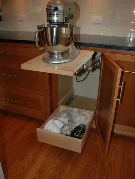 stand mixer storage ideas pictures remodel  decor