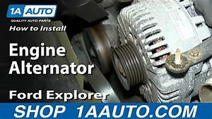 How To Install Replace Engine Alternator 4 6l V8 2002-10 Ford Explorer Mercury Mountaineer