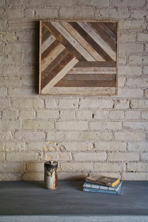 All of these decorating ideas using salvaged wood will give your space some rustic appeal. Reclaimed Wood Wall Art, Decor, Lath, Pattern, Geometric, 19 x 19 Black Friday Sale