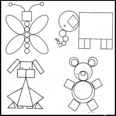 animales hechos con figuras geometricas Brainly lat