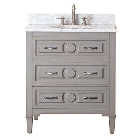 30 Inch Bathroom Vanity Without Top by Grayish Blue 30 Inch Vanity Combo With White