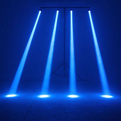 tsss 174 blue led beam spotlight with mount pinspot dj effect