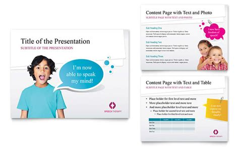 speech therapy education powerpoint  template