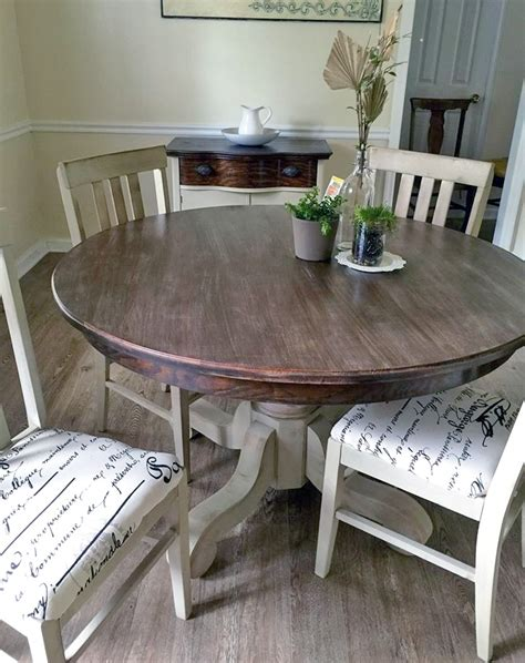 millstone and anitque walnut dining set general finishes