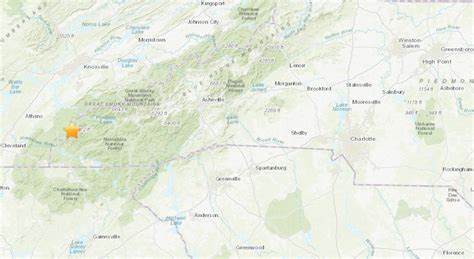 magnitude earthquake  struck north carolina