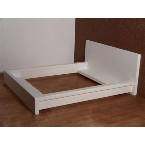 White Platform Bed by Modern Dollhouse Furniture M112 Pods White Platform