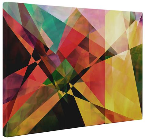 Abstract Modern Shapes by Abstract Canvas Modern Triangle Shapes Wall Print