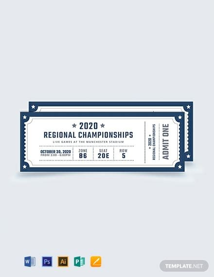 Publisher Ticket Template free blank sports ticket template 412 tickets