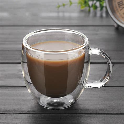 ml ml double coffee mugs   handle mugs