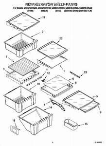 Parts For Whirlpool Gs6shexnl00  Refrigerator Shelf Parts