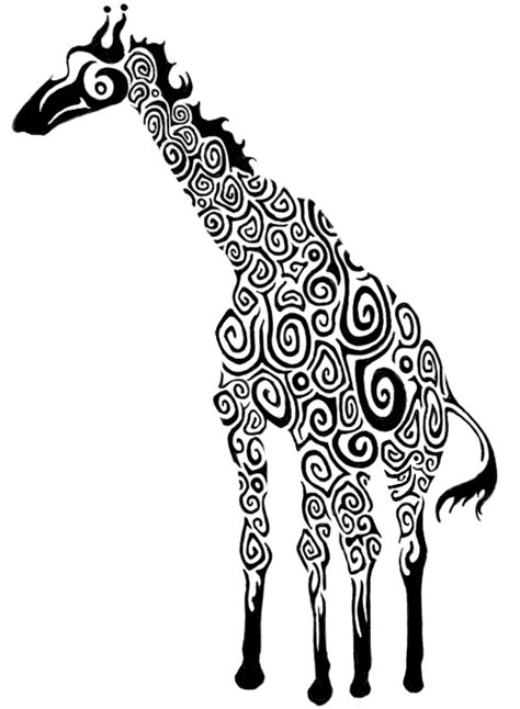 giraffe tattoo design  janeextasy  deviantart