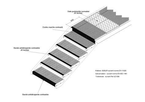 caillebotis press 233 pour marche d escalier jk technic