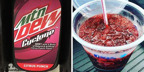 mountain dews  cyclone flavor   citrus punch