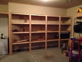 Of Images Garage With Storage by How To Build Sturdy Garage Shelves 171 Home Improvement