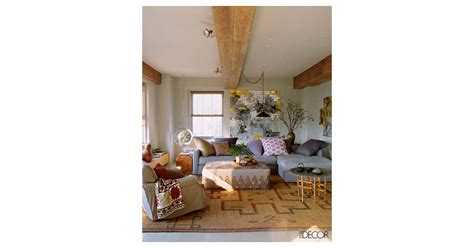 in a more or less neutral living room gold and lavender