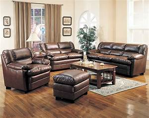 Leather living room furniture home design scrappy for Leather furniture for living rooms