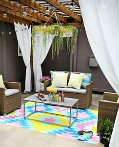 1001 conseils et idees pour amenager une terrasse zen With tapis de gym avec canape veranda