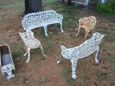 cast iron patio furniture for sale antiques