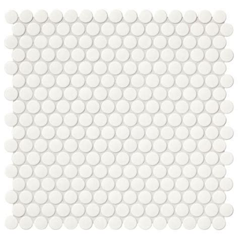 Tiles are the most popular décor material for any bathroom because they are durable, easy to maintain and look. Mohawk® Vivant Gloss White 12 x 13 Porcelain Mosaic Tile | Mosaic wall tiles, Porcelain mosaic ...