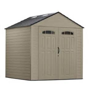 rubbermaid 7x7 roughneck shed home outdoor spaces