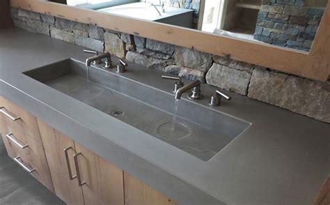 custom bathroom vanity tops with sinks custom concrete bathroom sinks trueform concrete
