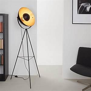 Lampe Metall Schwarz : briloner leuchten led stehleuchte stehlampe studiolampe ~ Articles-book.com Haus und Dekorationen