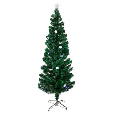 7 ft pre lit multi color led fiber optic christmas tree