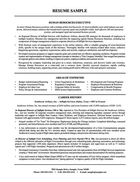 sle human resources manager resume sle resumes