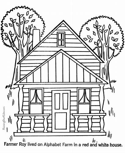 Houses Coloring Printable Pages Sheets Colouring Colour