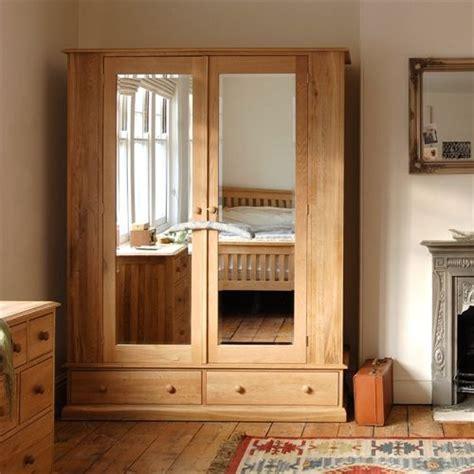 Wide Wardrobe Closet by Appleby Oak Wide Wardrobe With Mirrors In 2019