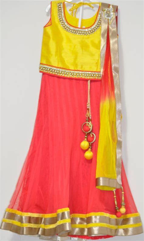 blouses and dresses orange lehenga with yellow silk choli blouse