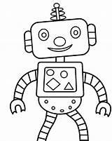 Robot Coloring Printable 1nza Robots sketch template