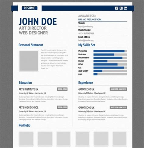 Ui Design Resume Psd by Professional Aurel Blue Cv Resume Form Psd Welovesolo