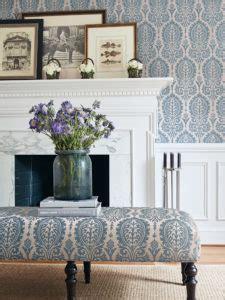 chestnut hill fabrics wallpaper  thibaut decor digest