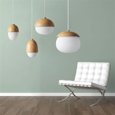 lustre chambre ikea cheap wood nuts shaped handing l led modern pendant