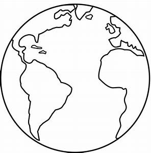 Earth Outline Black And White - ClipArt Best