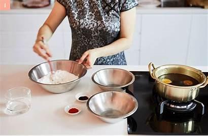 Asian Eaten Rice Soup Balls Oriental Tang