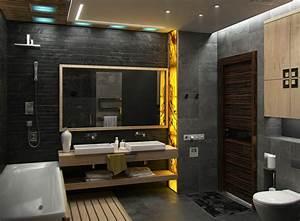 diferentes ideas con iluminacion led para banos With carrelage adhesif salle de bain avec led lumiere naturelle