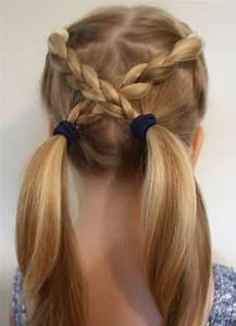 Coiffure Facile Pour Petite Fille : hairstyle tresses coiffure pour petite fille id es coiffure facile beauty haircut home ~ Nature-et-papiers.com Idées de Décoration